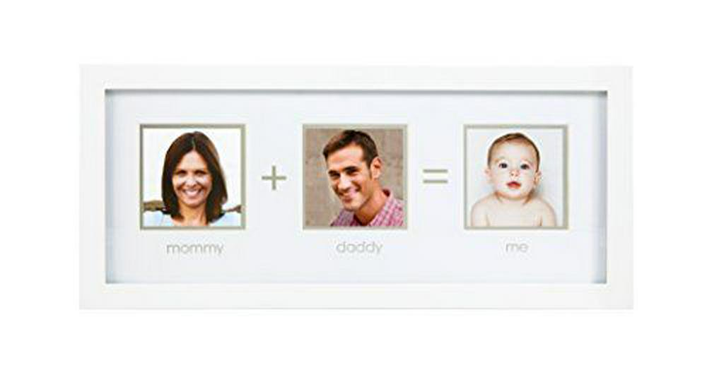 Pearhead Mommy + Daddy = Me Frame (White) One Size White