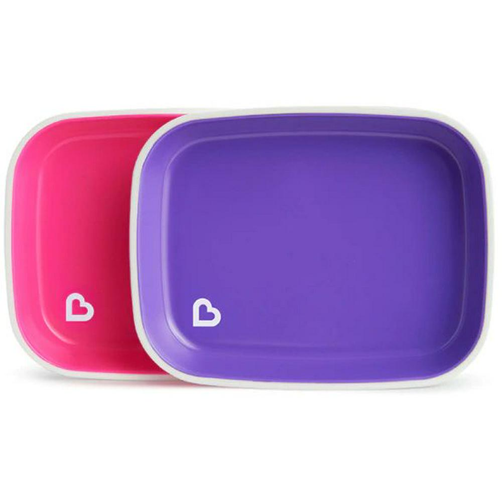 Munchkin Splash Toddler Plate - 2 Pack Colours May Vary