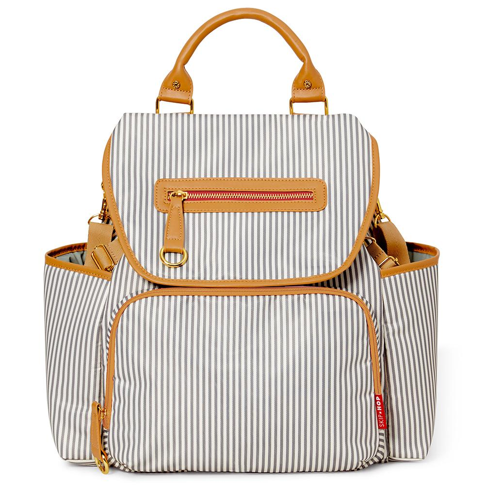 Skip Hop Grand Central Diaper Backpack Fench Stripe