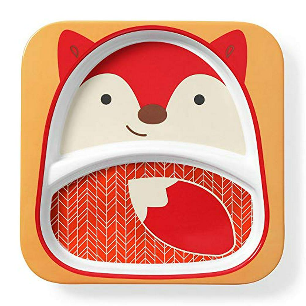 Skip Hop Zoo Divided Plate Fox