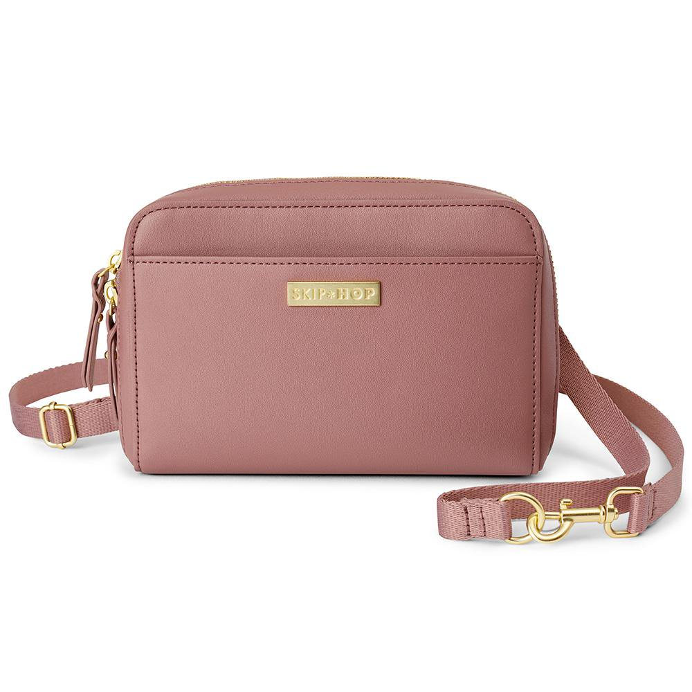 Skip Hop Greenwich Convertible Hip Pack Fits 19 - 36 Inches Dusty Rose