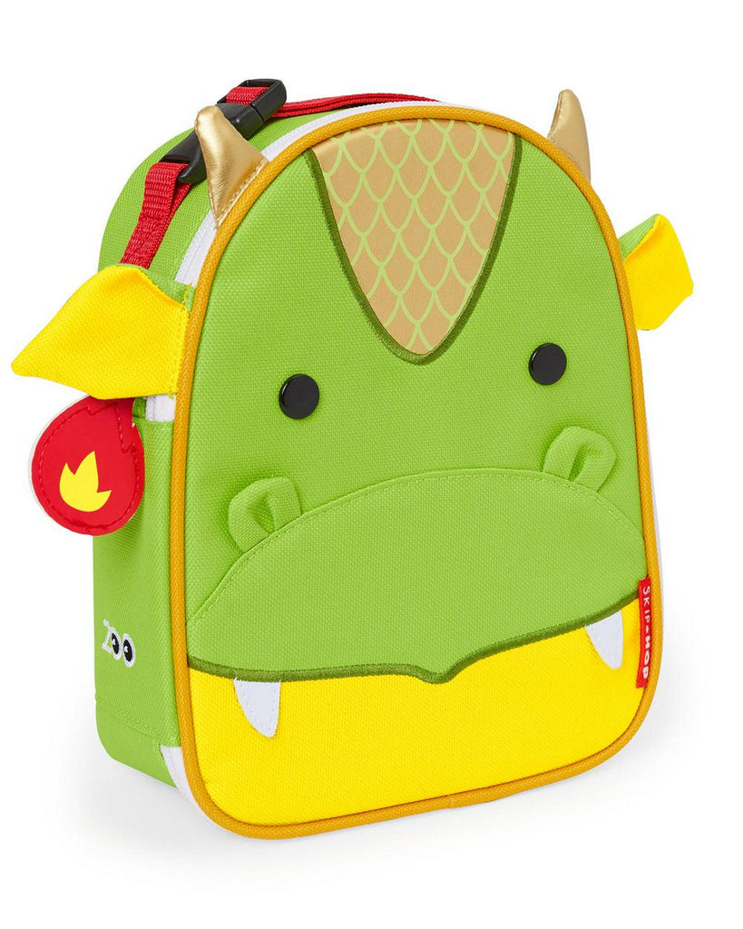 Skip Hop Zoo Lunchies Insulated Lunch Bag 19 x 8 x 22 Dragon