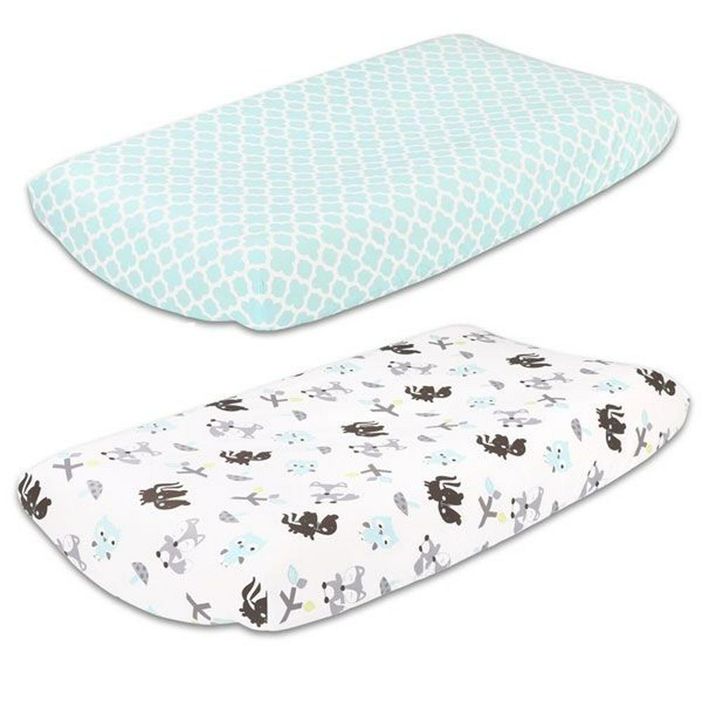 Little Haven Bassinet Sheet - 2 Piece 40 x 80 x 12cm Treehouse