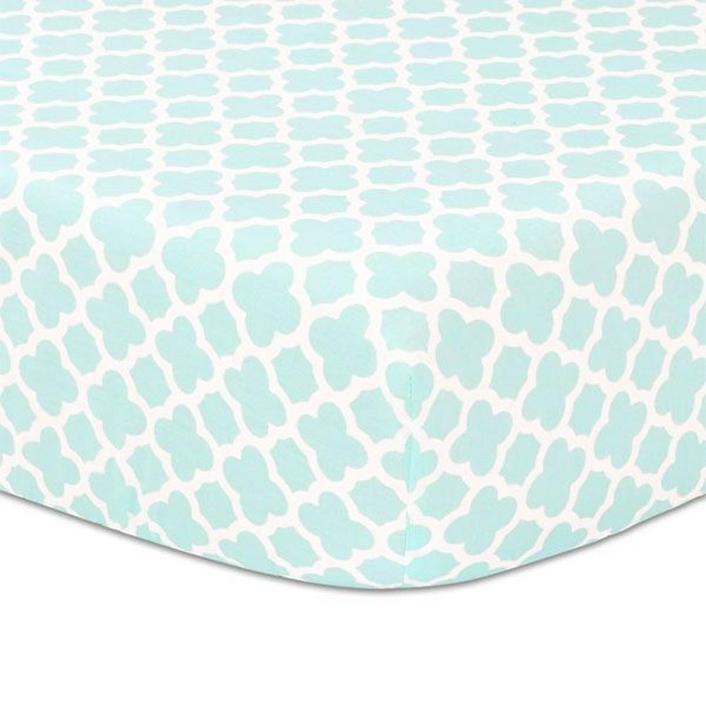 Little Haven Fitted Sheet Geo Print 132 x 77 x 19cm Treehouse