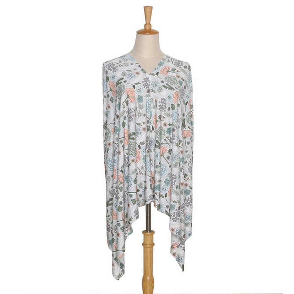 The Peanut Shell 6-in-1 Nursing Poncho Cali Floral