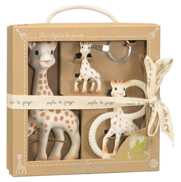 Vulli Sophie The Giraffe Trio Gift Set: Toy, Teething Ring & Key Chain Default Title