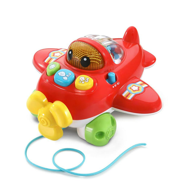 VTech Pull & Pop Aeroplane Red