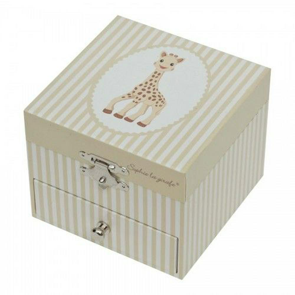Trousselier for Vulli Sophie The Giraffe Music Box (Cube) - Small Default Title