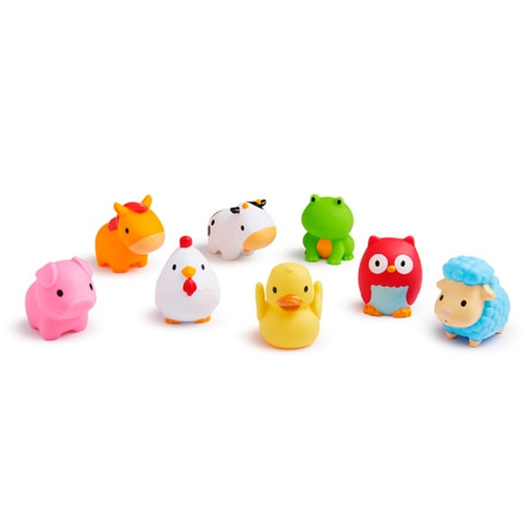 Barnyard Friends Bath Squirts - 8 Pack