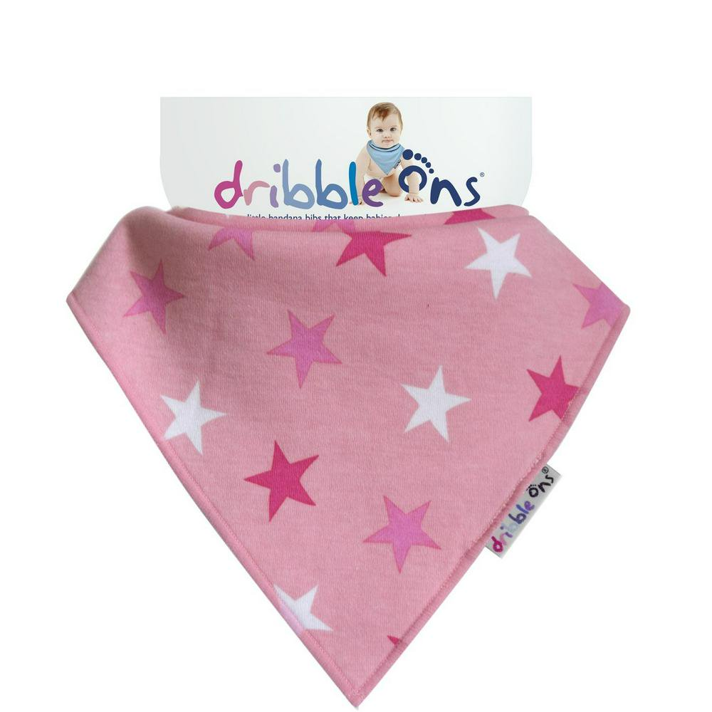 Sock Ons Dribble Ons Bib Pink Star