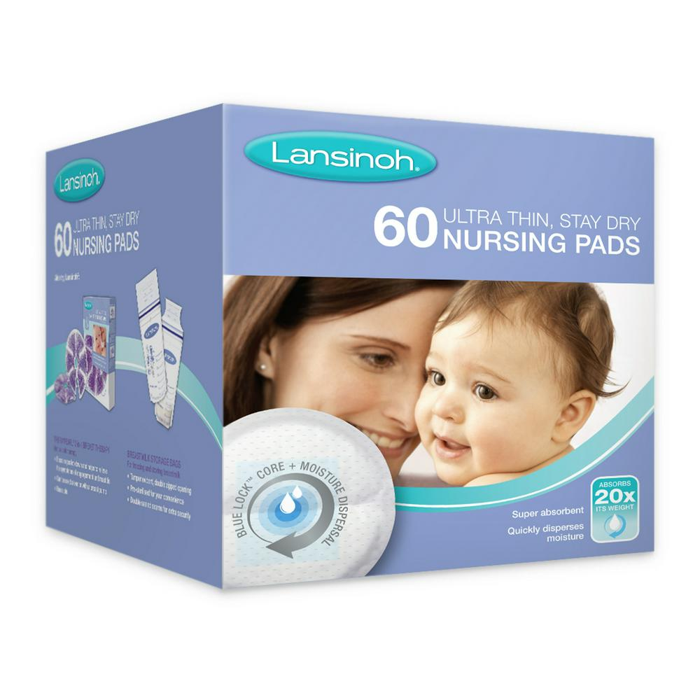 Lansinoh Disposable Breastfeeding Nursing Breast Pads - 60 Pack 60 Pack