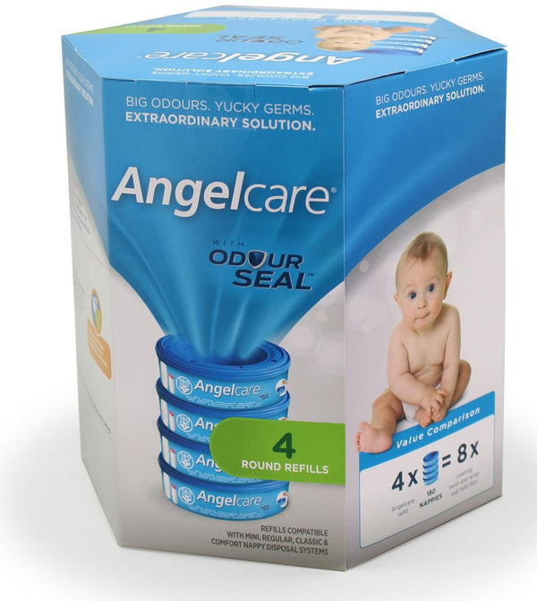 Angelcare Nappy Disposal System Refill Cassettes - 4 Pack Default Title