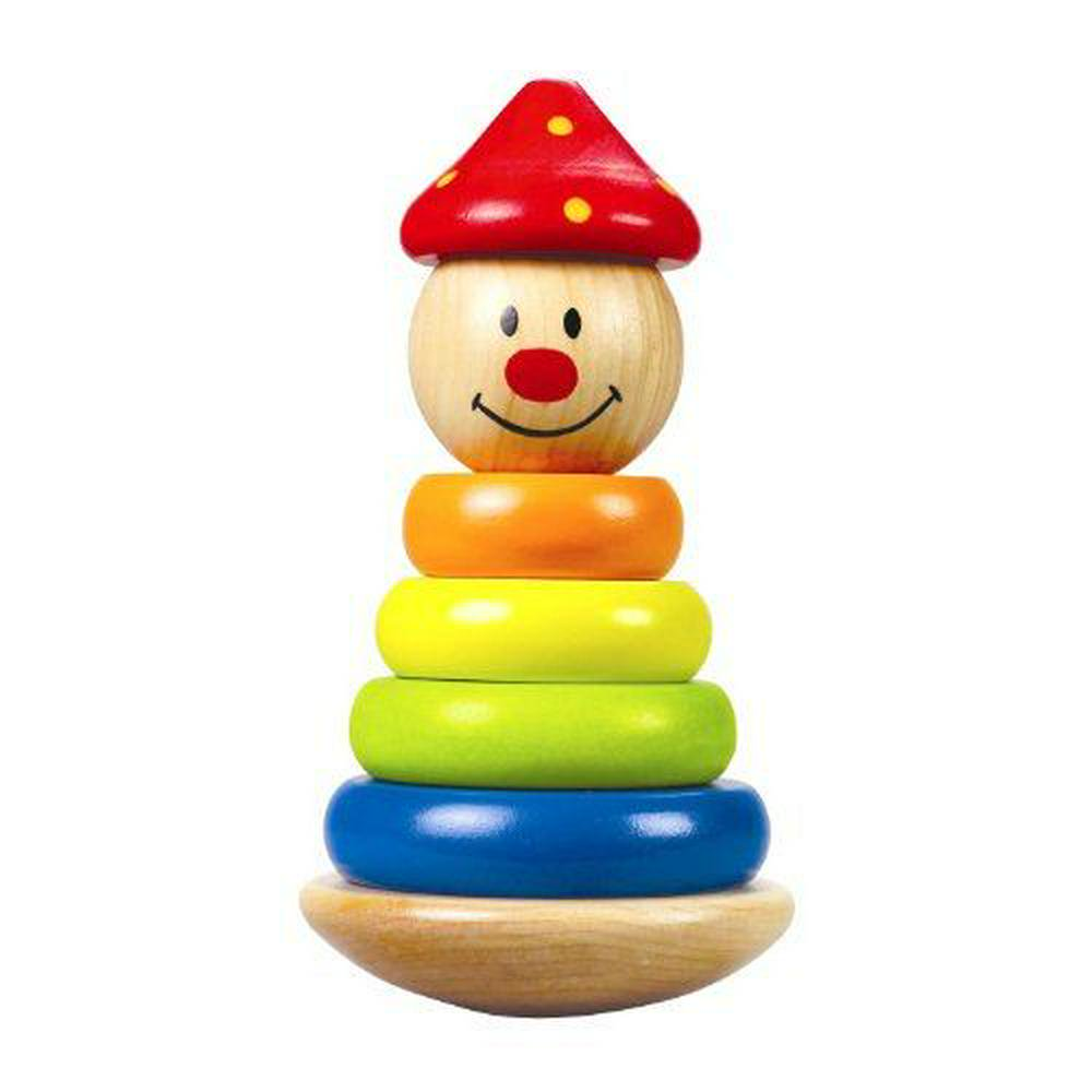 Hape Stack And Swivel Clown Stacker 6 Pieces