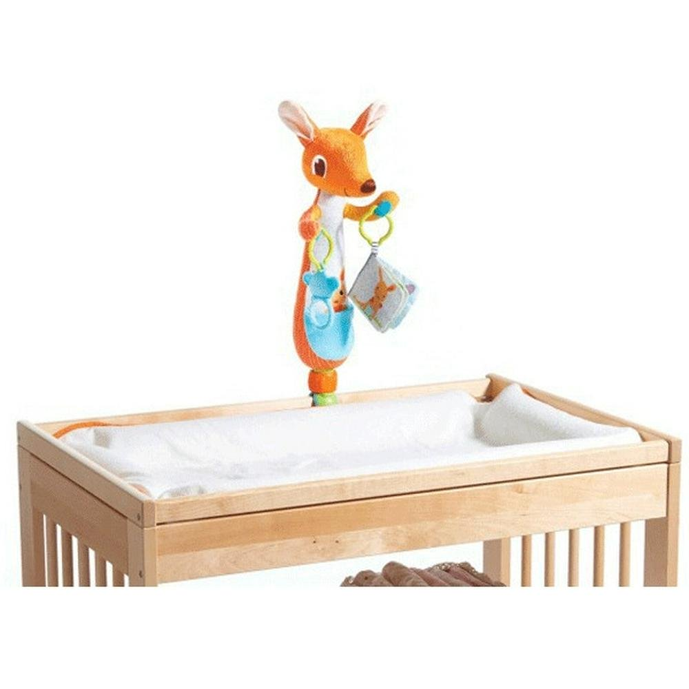 Tiny Love Kangy Kangaroo - Soft Cot Change Time Toy - With Rattle & Teether Default Title