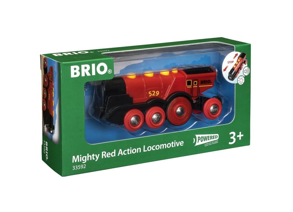 BRIO Mighty Red Action Locomotive Red