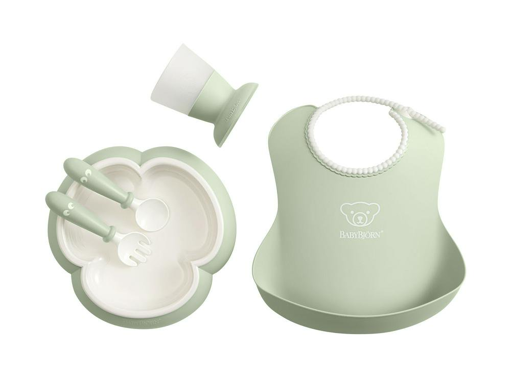 BabyBjorn Baby Dinner Set - Powder Green Powder Green