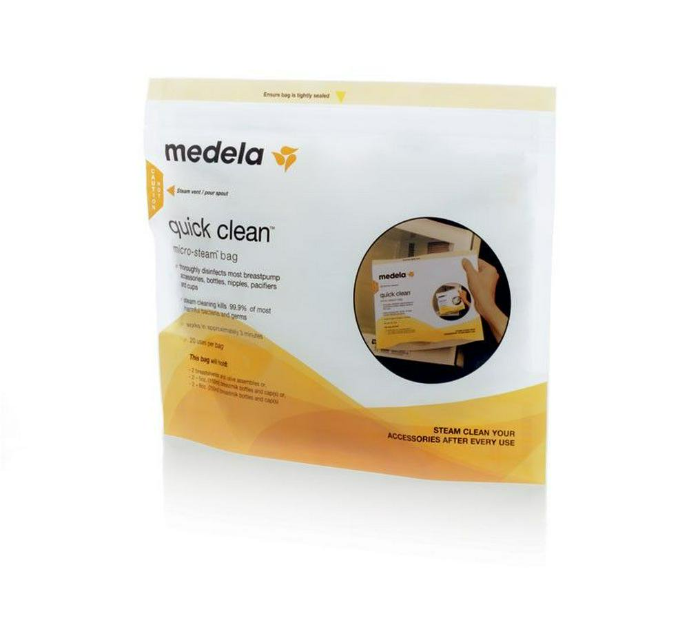 Medela Quick Clean Microwave Bags - 5 Pack Default Title