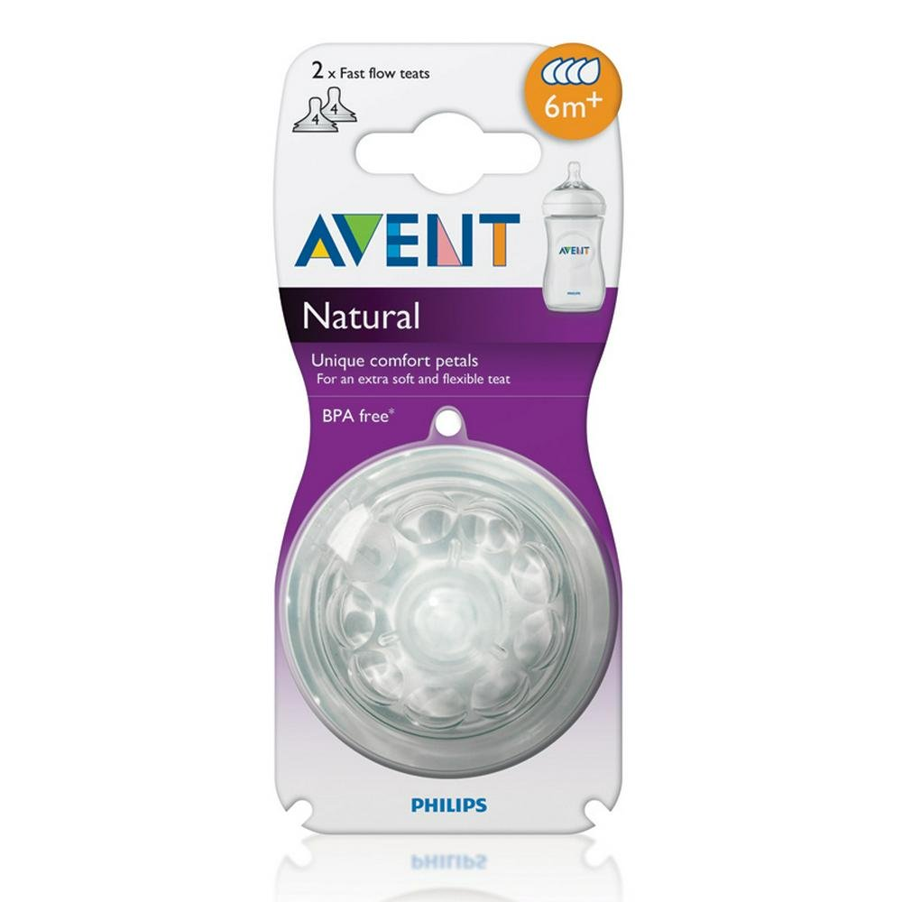 Philips Avent Teat Natural 2.0 Fast Flow - 6 Months Default Title