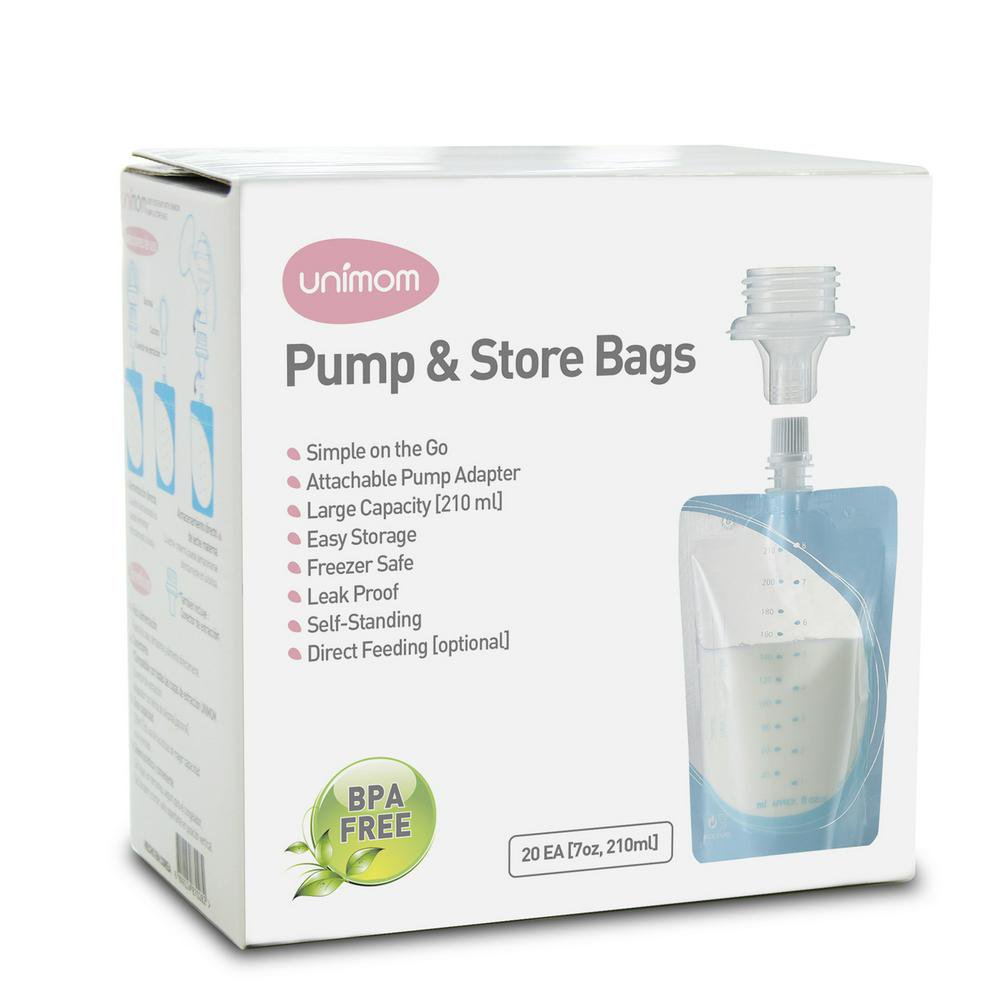Unimom Pump & Store Breast Milk Bags, Box of 20 Default Title