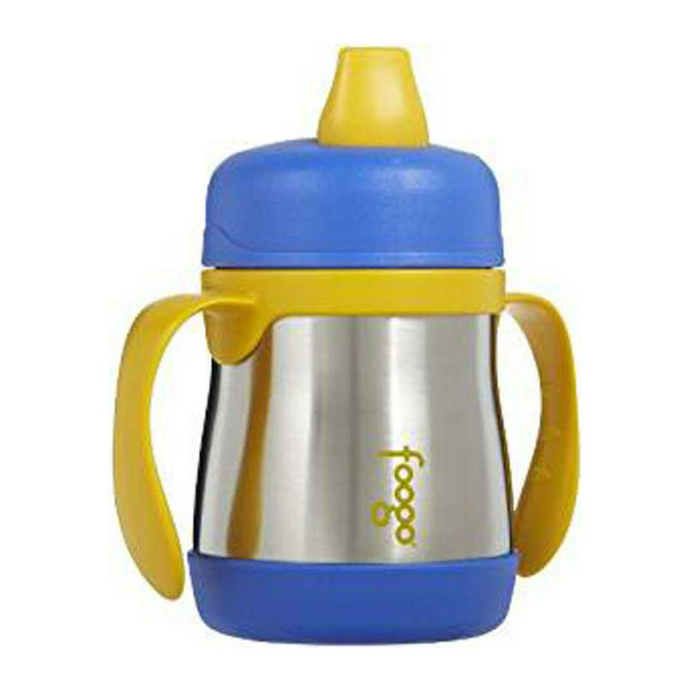 Thermos Foogo Stainless Steel Vacuum Insulated Soft Spout Sippy Cup Blue