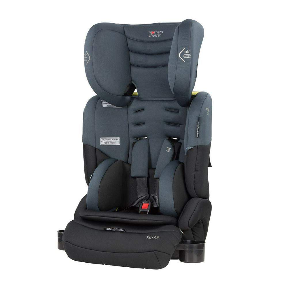 Mother's Choice Kin AP Convertible Booster Seat Titanium Grey 45(w) x 40(d) x 77-85(h) cm