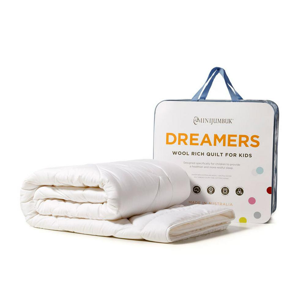 MiniJumbuk Dreamers Kids Wool Rich Single Quilt - 140 x 210cm Single