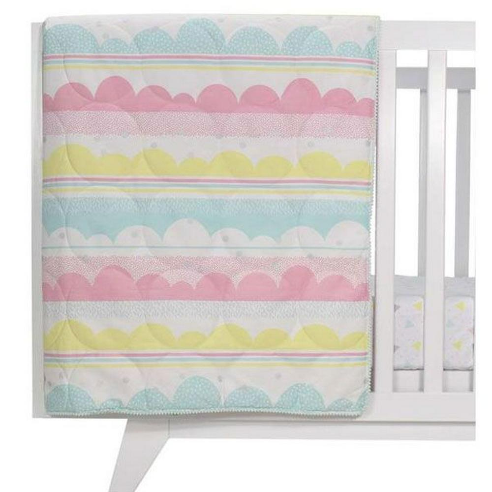 Living Textiles All Seasons Cot Quilt 100 x 120cm Ice Cream