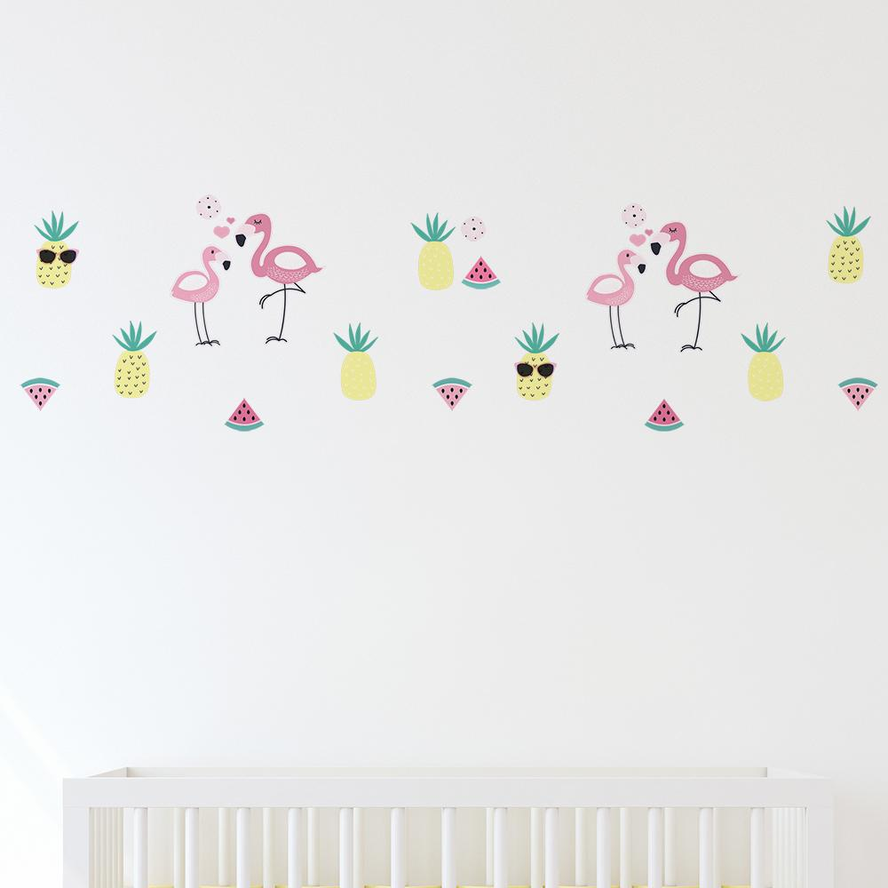 Lolli Living Wall Decal Set, 4 Sheets A3 Flamingo