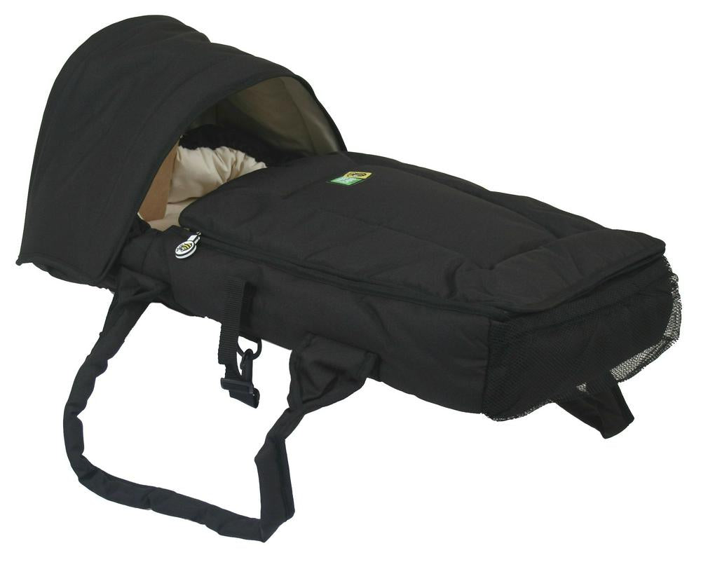 Veebee Walkabout Infant Cocoon Bassinet Black with Butter Lining