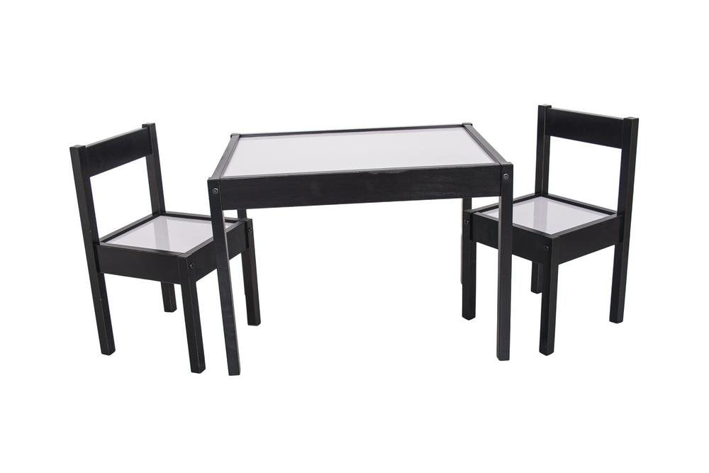 Love N Care Kids Table and Chairs Espresso