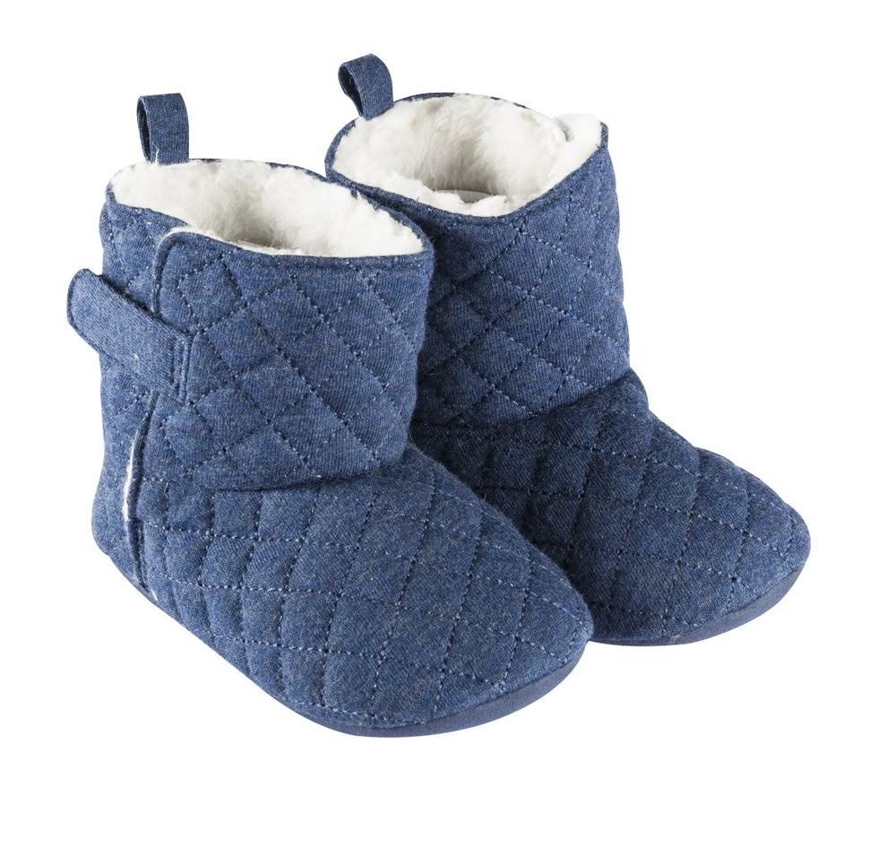 Playette Amelia Quilted Slipper Boots 9-12m Navy