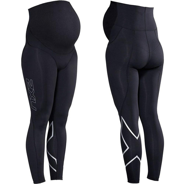 2XU Prenatal Active Tights - XS XS Black/Silver