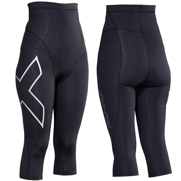2XU Postnatal Active 3/4 Tights - Medium Medium Black/Silver