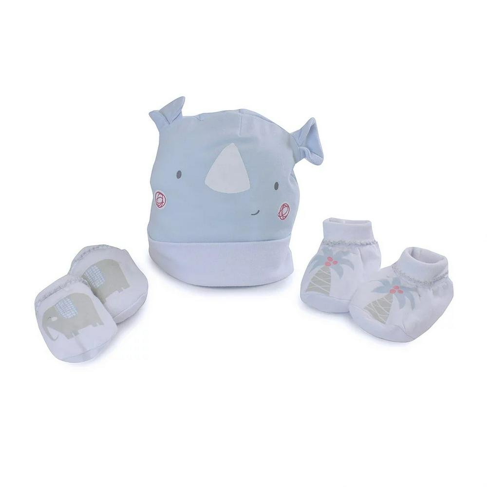Bubba Blue Newborn Layette Set, 3 Piece Rhino Run