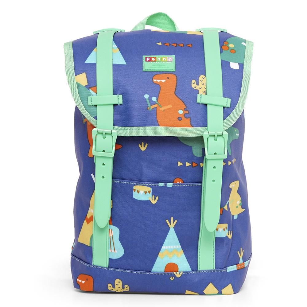 Penny Scallan Design Buckle Up Kids Backpack 32cm x 22cm x 12cm Dino Rock