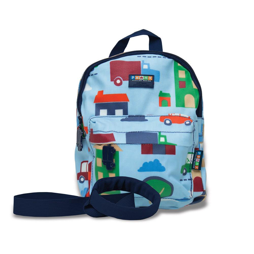 Penny Scallan Design Mini Kids Backpack With Rein (Big City) 26cm long x 20cm wide x 7.5cm deep Big City