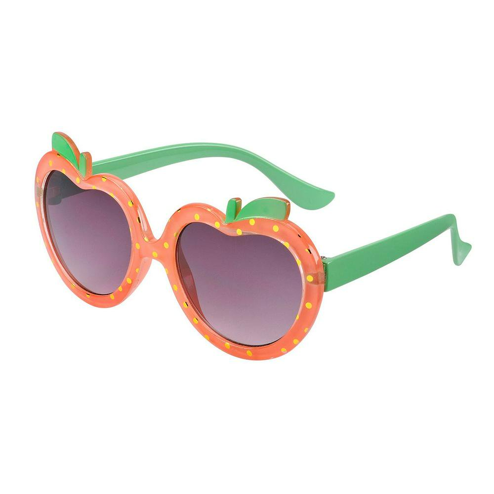 Eyetribe Ripe Toddlers Sunglasses (Neon Peach with Green) - 1-3 Years 1-3 Years Neon Peach with Green