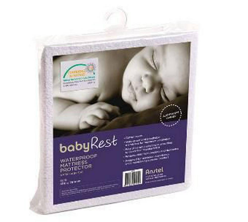 BabyRest Waterproof Portacot Mattress Protector - 1040 x 710 x 10mm 1040 x 710 x 10mm