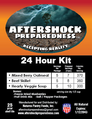 24 Hour Emergency Food Kit
