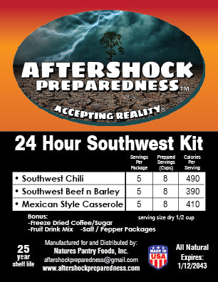 24 Hour Southwest Emergency Food  Kit