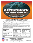 Korean BBQ Rice Dinner