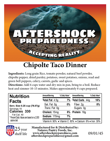 Chipotle Taco Dinner