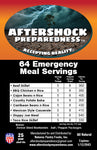 64 Emergency Meal Servings
