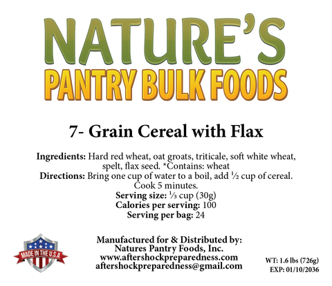 7-Grain Cereal with Flax