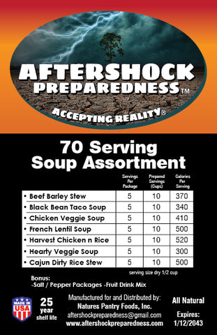 70 Servings Soup Assortment