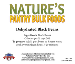 Dehydrated Black Beans