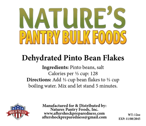 Dehydrated Pinto Bean Flake