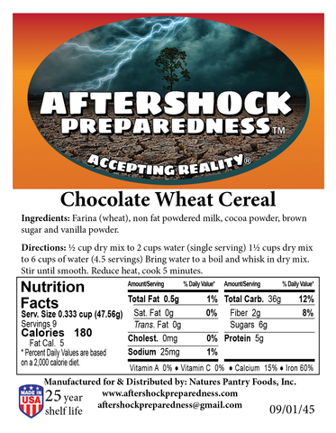 Chocolate Wheat Cereal