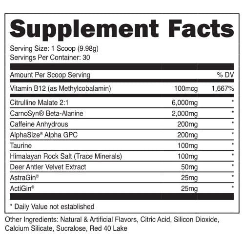 DAS Labs: Bucked Up Non-Stimulant Pre-Workout, vitamins, supplements - molecularevolutions
