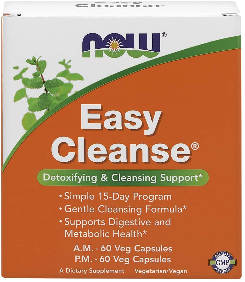 NOW Foods: Easy Cleanse 60 AM/60 PM Veg. Capsules, vitamins, supplements - molecularevolutions.